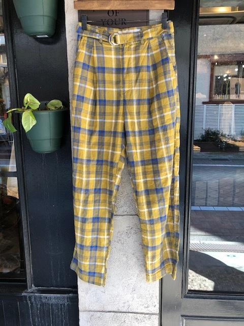 GRANDMA MAMA DAUGHTER Checktuck Wide Pants& Skipper Shortshirt_a0222424_16323043.jpg