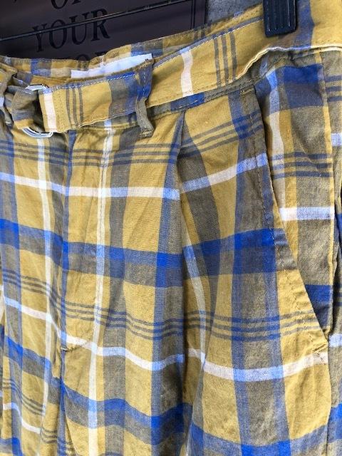 GRANDMA MAMA DAUGHTER Checktuck Wide Pants& Skipper Shortshirt_a0222424_16323807.jpg