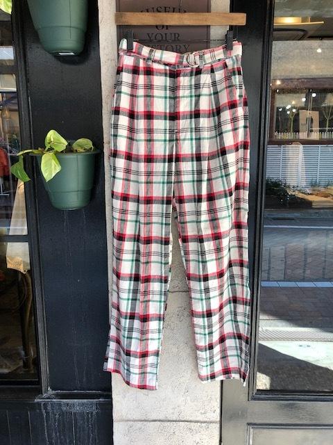 GRANDMA MAMA DAUGHTER Checktuck Wide Pants& Skipper Shortshirt_a0222424_16324532.jpg