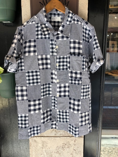 Universal Works  GeometallicPattern shirt  , Madrascheck Patchwork Road Shirt_a0222424_20414610.jpg
