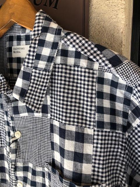 Universal Works  GeometallicPattern shirt  , Madrascheck Patchwork Road Shirt_a0222424_20415453.jpg