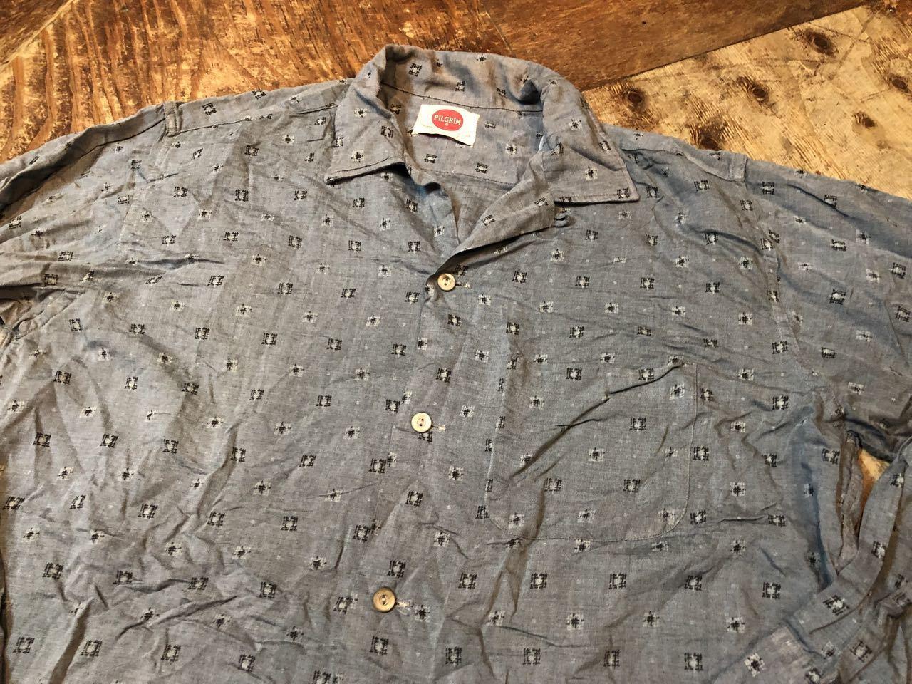 4月20日(土)入荷!60s PILGRIM レーヨン オープンカラーシャツ!_c0144020_14140815.jpg