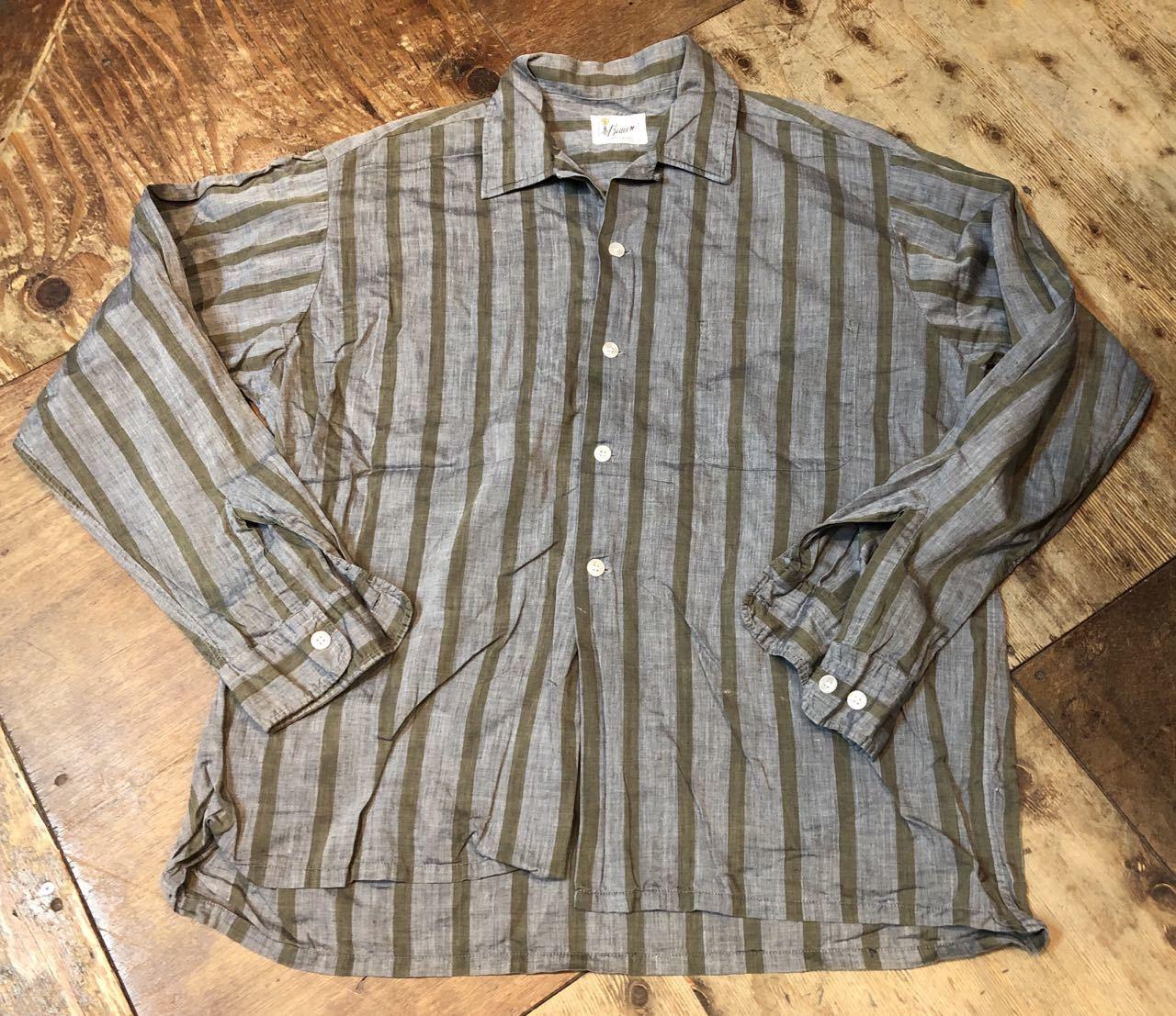 4月20日(土)入荷!60s Beacon all cotton ストライプシャツ!_c0144020_14164721.jpg