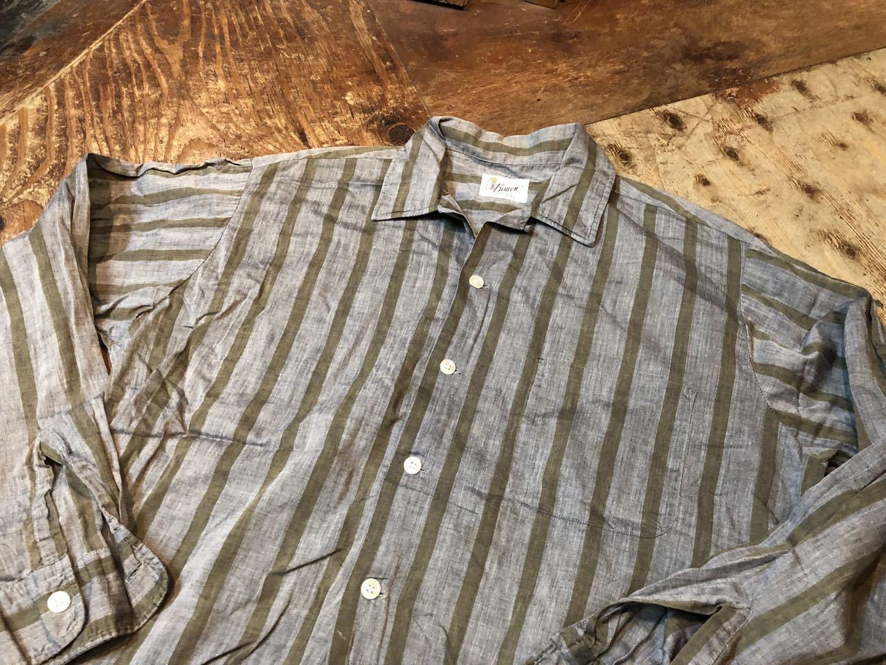 4月20日(土)入荷!60s Beacon all cotton ストライプシャツ!_c0144020_14164961.jpg