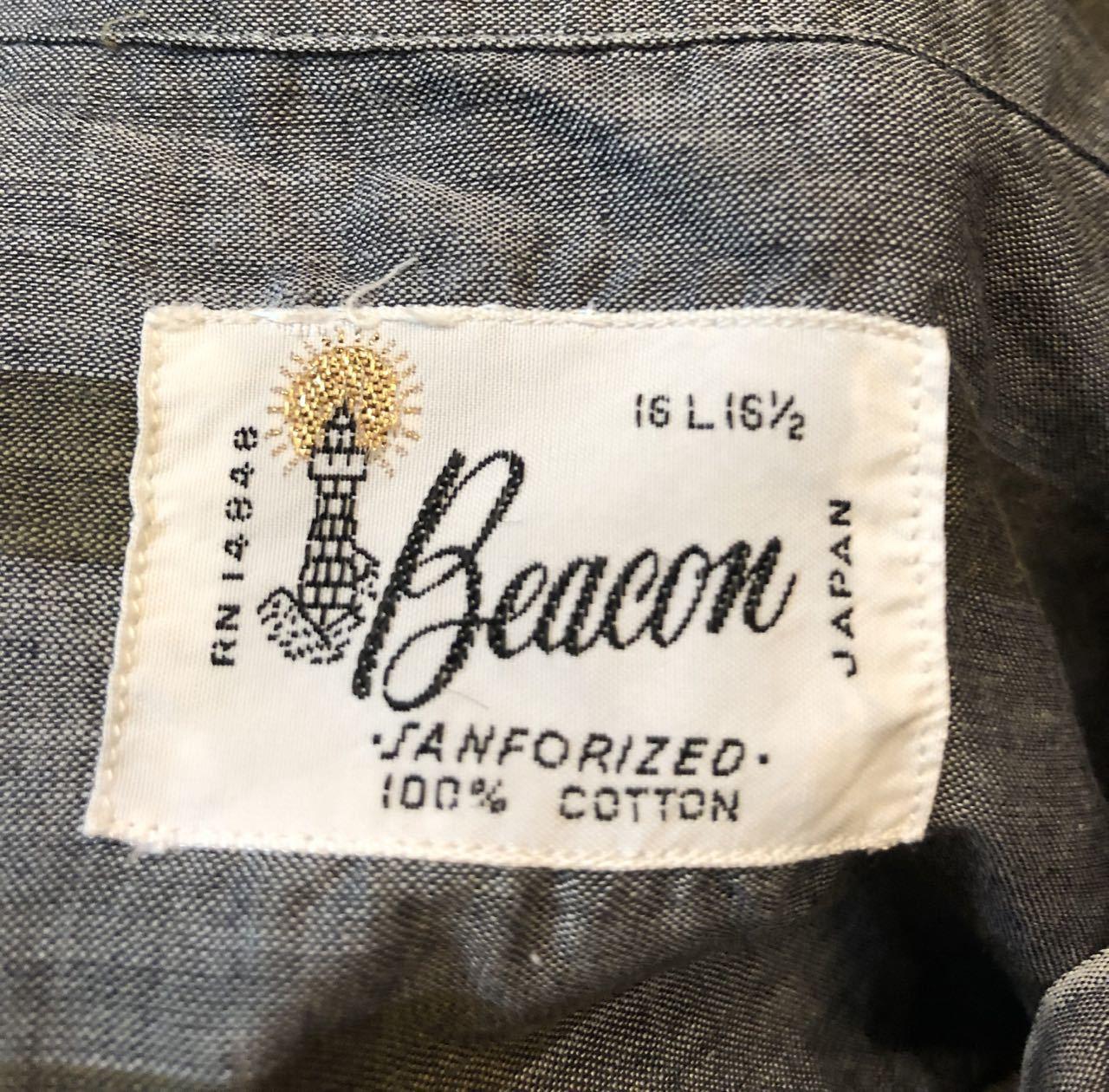 4月20日(土)入荷!60s Beacon all cotton ストライプシャツ!_c0144020_14165193.jpg