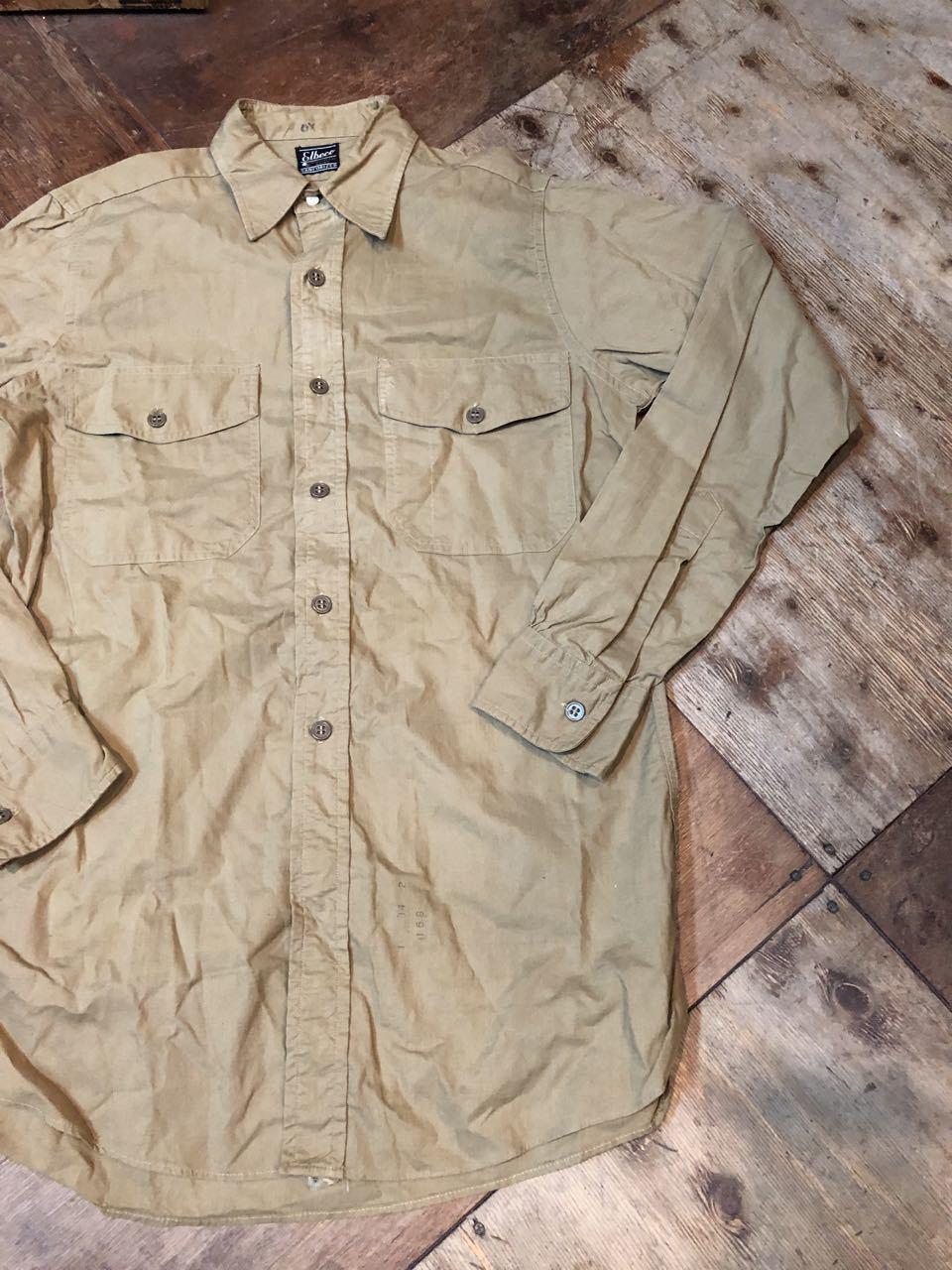 4月20日(土)入荷!50s マチ付き Elbeco  SANFORIZED WORKシャツ!_c0144020_14481073.jpg