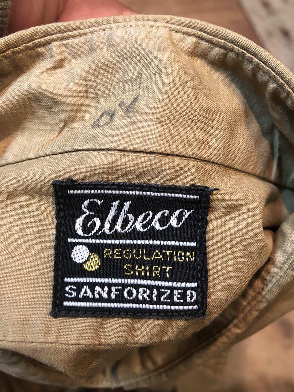 4月20日(土)入荷!50s マチ付き Elbeco  SANFORIZED WORKシャツ!_c0144020_14481876.jpg