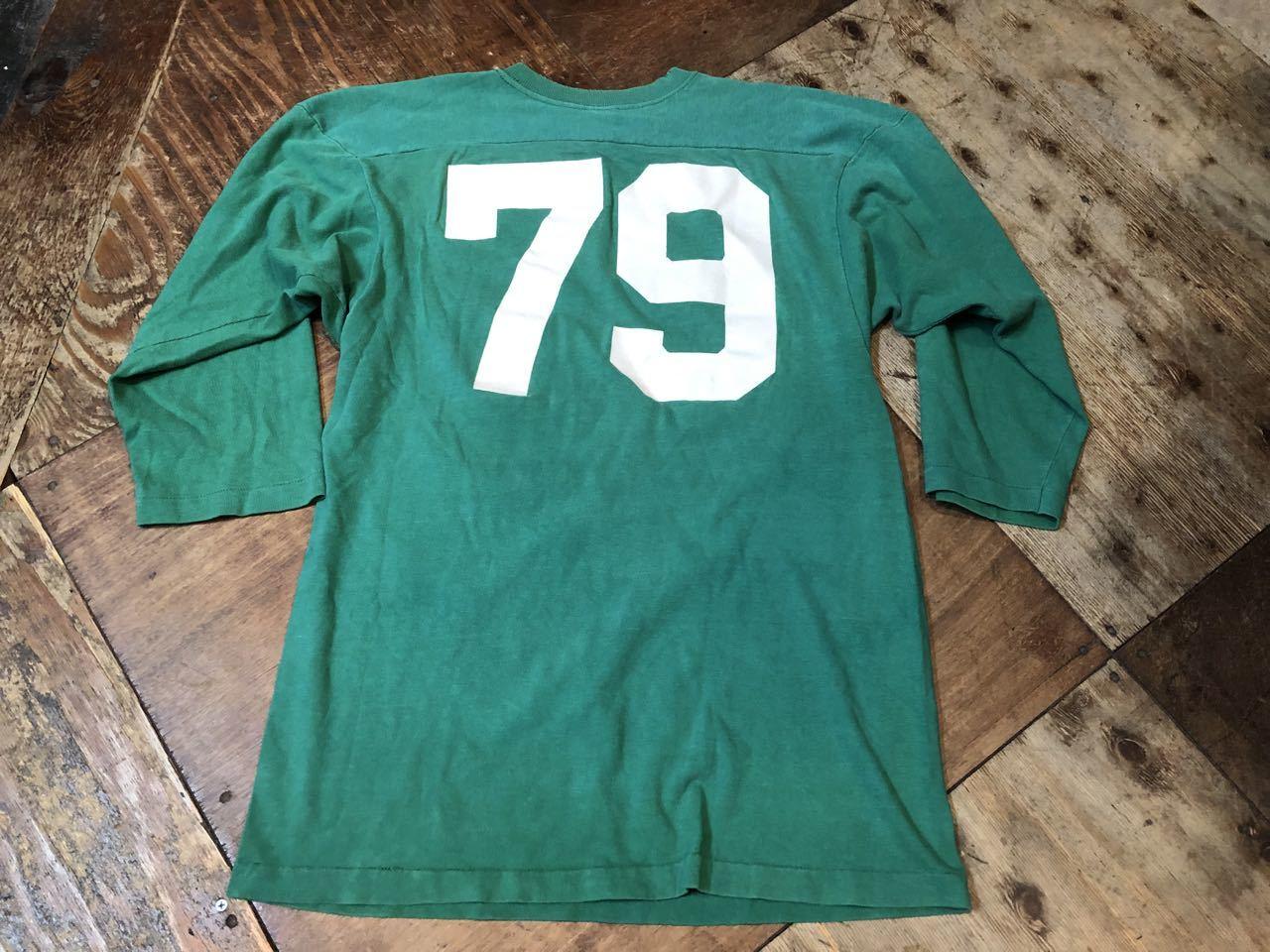 4月20日(土)入荷! 70s all cotton  チャンピオン バータグ フットボールTシャツ!_c0144020_14511669.jpg