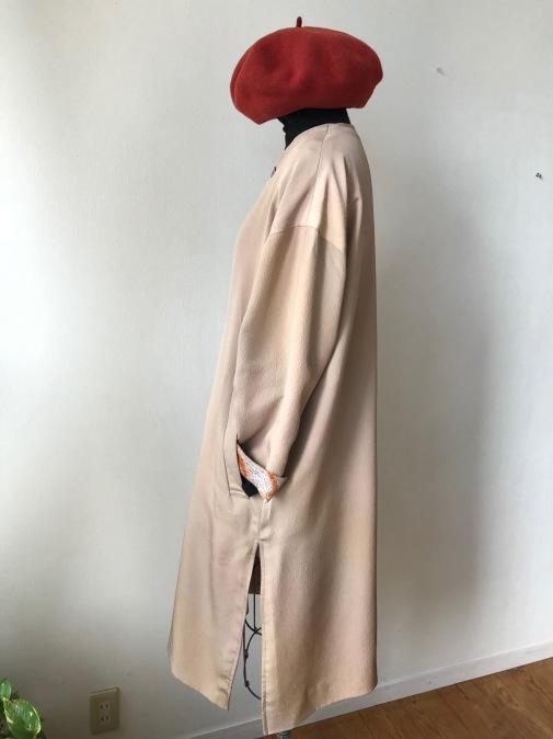 着物リメイク・着物からリバーシブルノーカラーコート_d0127925_21273295.jpg
