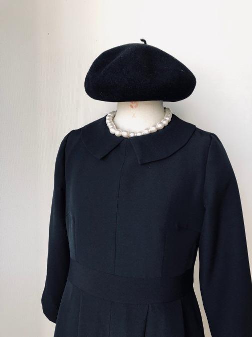 着物リメイク・喪服のお着物からレトロワンピース_d0127925_22174336.jpg