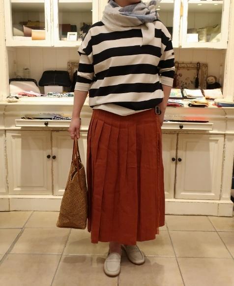 2019年 春夏のオニールオブダブリン リネンキルトスカートです。_c0227633_12475088.jpg