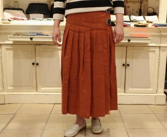 2019年 春夏のオニールオブダブリン リネンキルトスカートです。_c0227633_12482156.jpg