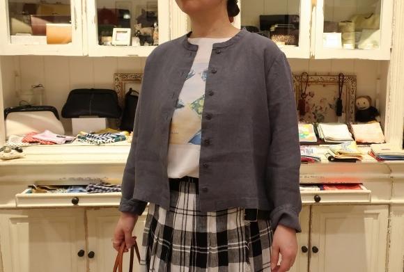 2019年 春夏のオニールオブダブリン リネンキルトスカートです。_c0227633_12492914.jpg