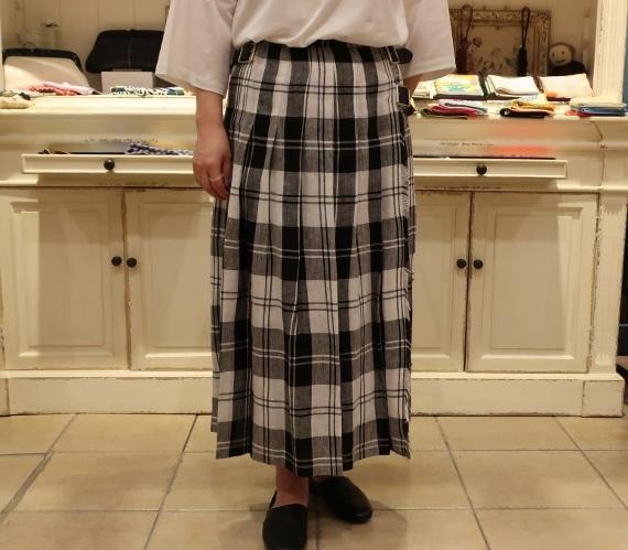 2019年 春夏のオニールオブダブリン リネンキルトスカートです。_c0227633_12503860.jpg