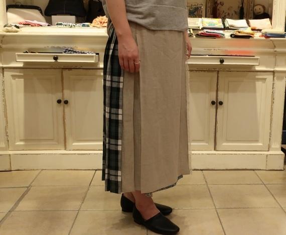 2019年 春夏のオニールオブダブリン リネンキルトスカートです。_c0227633_12515545.jpg