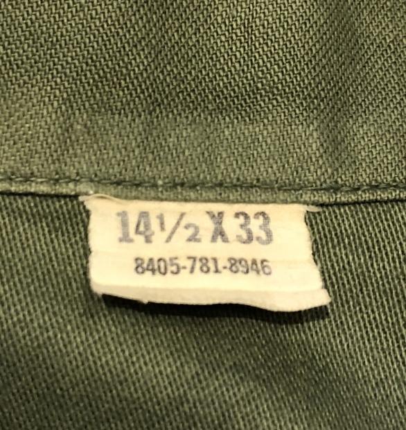 """60\'s \""""U.S.Military\"""" ユーティリティーシャツ!!!!!_c0355834_19103054.jpg"""
