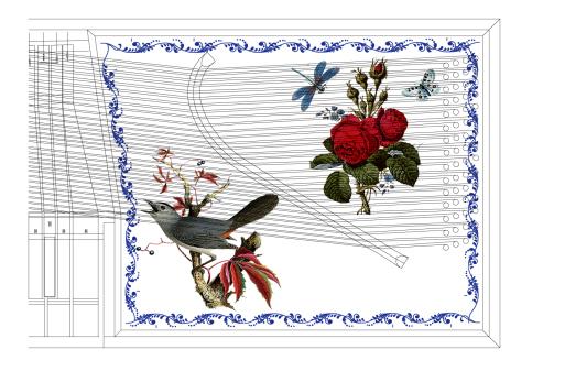 クラヴィコードの響板に絵を!_e0064847_21055858.jpg
