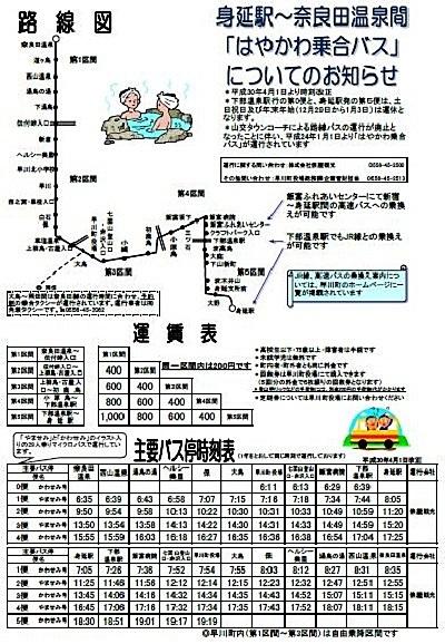 バスの終点へ行こう011 はやかわ乗合バス(運行は株式会社俵屋観光)奈良田温泉バス停_e0304702_11181300.jpg