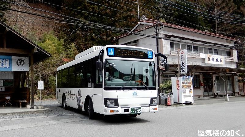バスの終点へ行こう011 はやかわ乗合バス(運行は株式会社俵屋観光)奈良田温泉バス停_e0304702_21215690.jpg