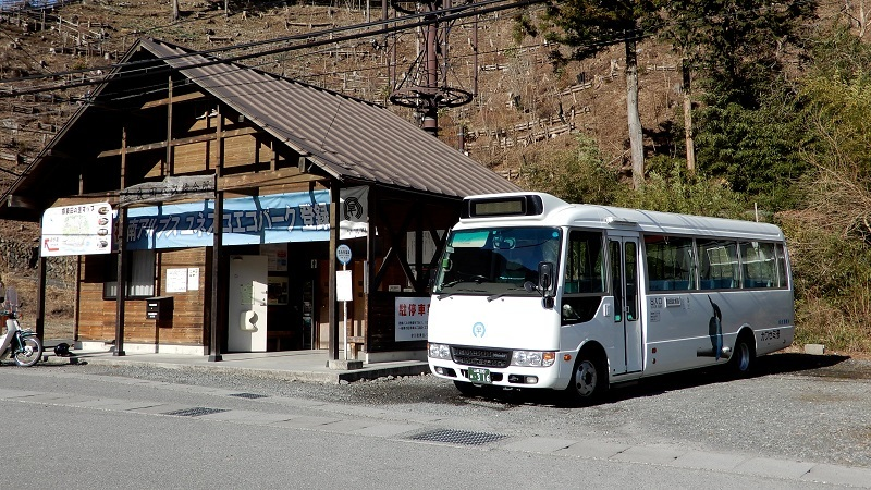 バスの終点へ行こう011 はやかわ乗合バス(運行は株式会社俵屋観光)奈良田温泉バス停_e0304702_21393795.jpg