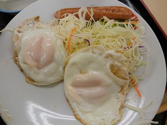 4/20 ソーセージダブルエッグ定食ミニ牛皿¥450@松屋_b0042308_10490968.jpg