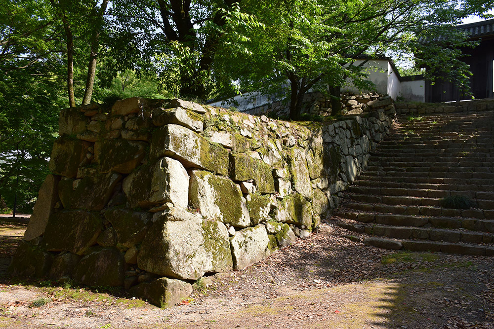 漆黒の烏城、備前岡山城を歩く。 その2「本丸下の段」_e0158128_21182096.jpg