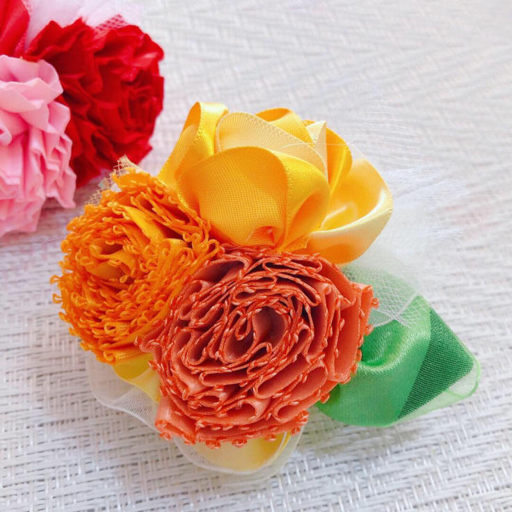 Mother\'s Day Bouquet Keyholder*イエロー♪生徒さまの作品から_f0017548_18424071.jpg