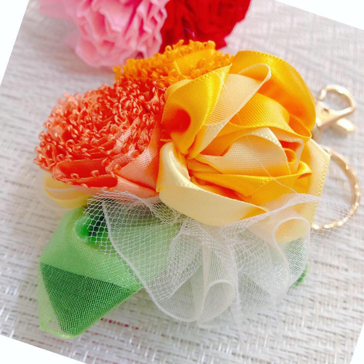 Mother\'s Day Bouquet Keyholder*イエロー♪生徒さまの作品から_f0017548_18424148.jpg