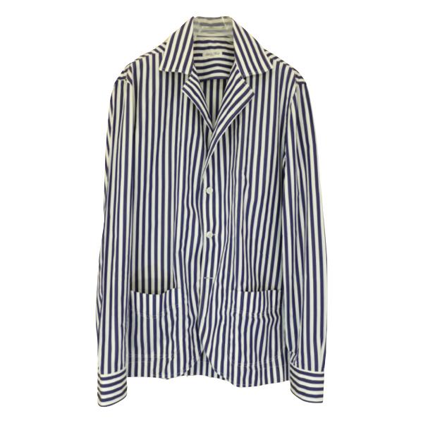 Salvatore Piccolo サルヴァトーレ・ピッコロ ロンドンストライプシャツジャケット(ジャッカ・シマジ)_c0118375_16123047.jpeg
