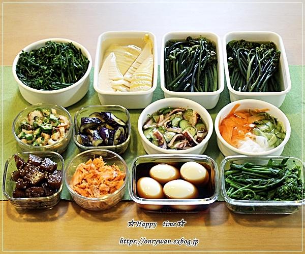 たけのこご飯弁当と今週の作りおきと♪_f0348032_17044090.jpg