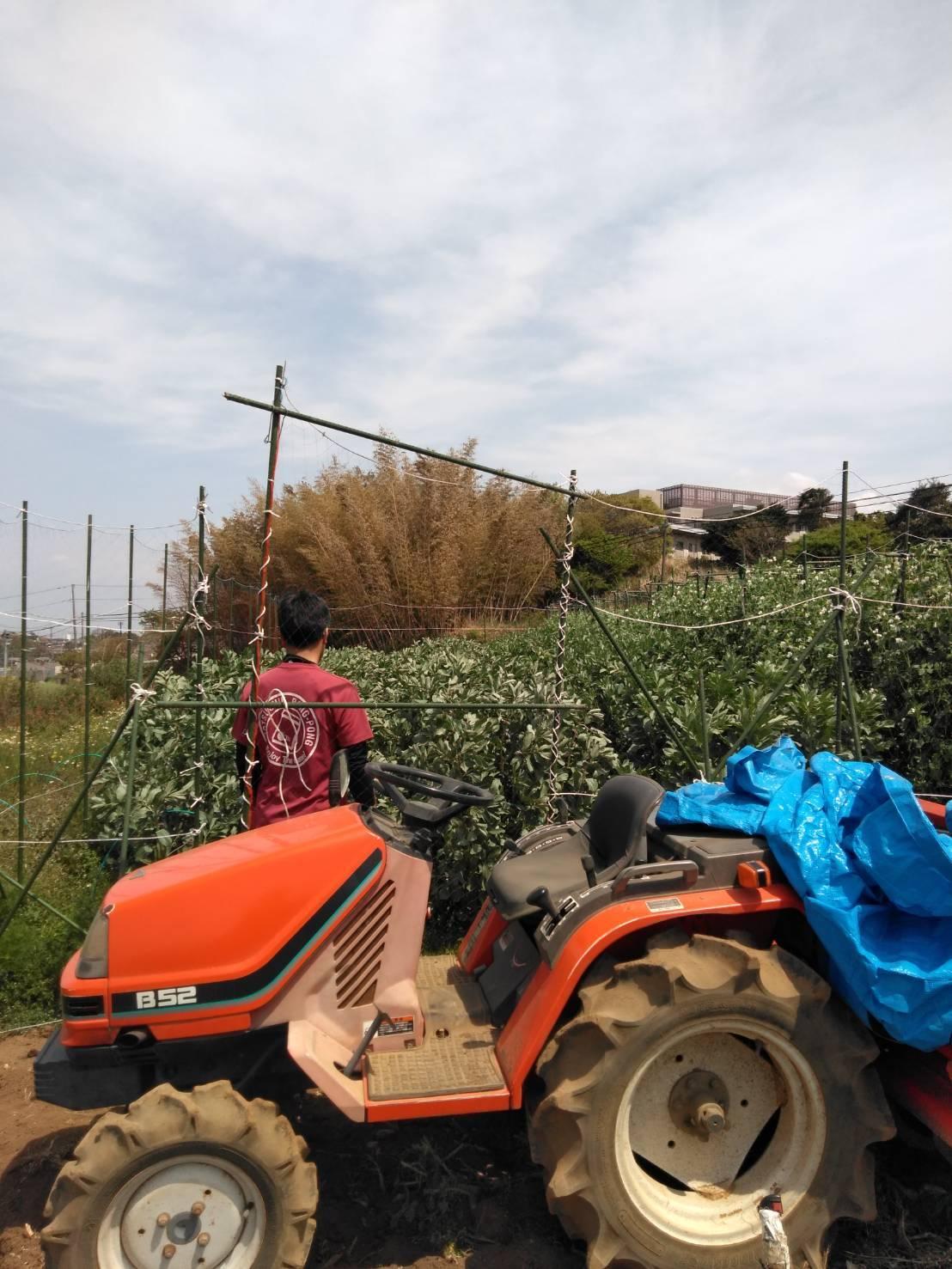 夏野菜の畝作り 今朝は4名です_c0222448_16251233.jpg