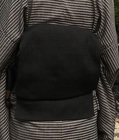 北野をどり・伊兵衛織着物と帯・小紋にまいづる紙布帯。_f0181251_11180124.jpg
