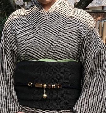 北野をどり・伊兵衛織着物と帯・小紋にまいづる紙布帯。_f0181251_11195262.jpg