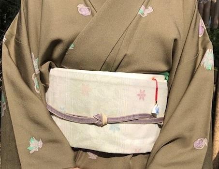 北野をどり・伊兵衛織着物と帯・小紋にまいづる紙布帯。_f0181251_11282509.jpg