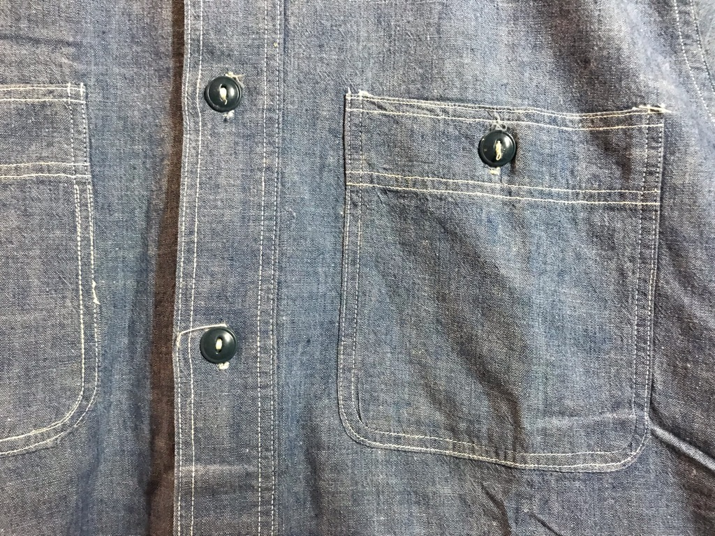 マグネッツ神戸店4/24(水)Vintage入荷! #1 Chambray Shirt!!!_c0078587_16350325.jpg