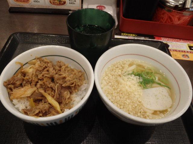 なか卯和風牛丼ミニ+はいから小うどん      新開地店_c0118393_10383409.jpg