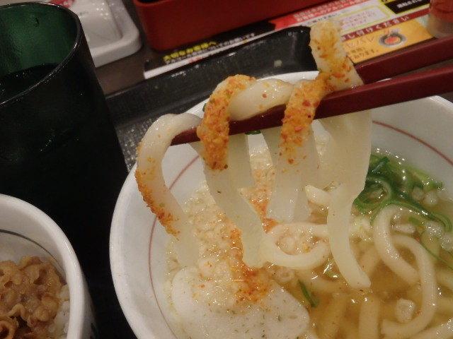 なか卯和風牛丼ミニ+はいから小うどん      新開地店_c0118393_10505007.jpg