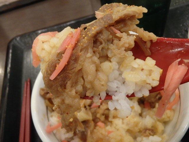 なか卯和風牛丼ミニ+はいから小うどん      新開地店_c0118393_10590712.jpg