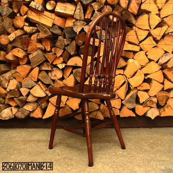 Vintage 秋田木工 ウィンザーチェア 4脚セット 食卓椅子 アキモク_e0243096_10162612.jpg