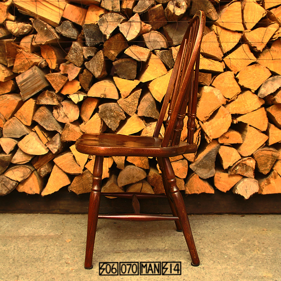 Vintage 秋田木工 ウィンザーチェア 4脚セット 食卓椅子 アキモク_e0243096_10163389.jpg