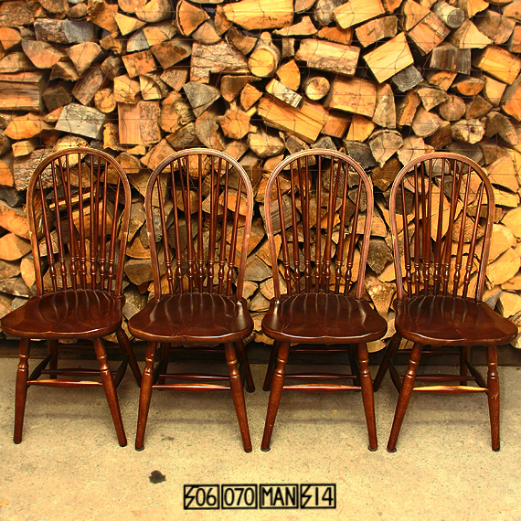 Vintage 秋田木工 ウィンザーチェア 4脚セット 食卓椅子 アキモク_e0243096_10164029.jpg