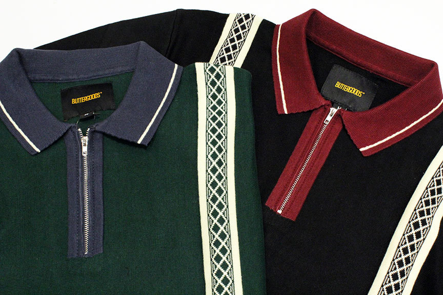 "BUTTER GOODS (バターグッズ) "" NEWARK ZIP POLO SHIRT \""_b0122806_12495091.jpg"