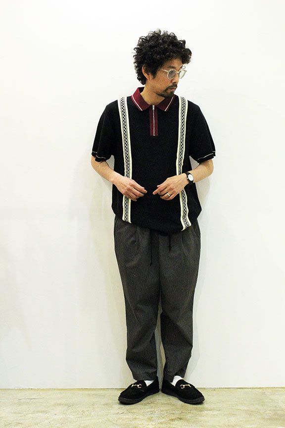 "BUTTER GOODS (バターグッズ) "" NEWARK ZIP POLO SHIRT \""_b0122806_12501519.jpg"