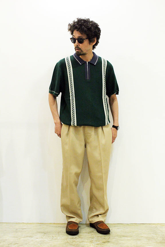 "BUTTER GOODS (バターグッズ) "" NEWARK ZIP POLO SHIRT \""_b0122806_12503243.jpg"