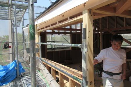 「東町の家」外壁構造面材張_b0179213_20281226.jpg