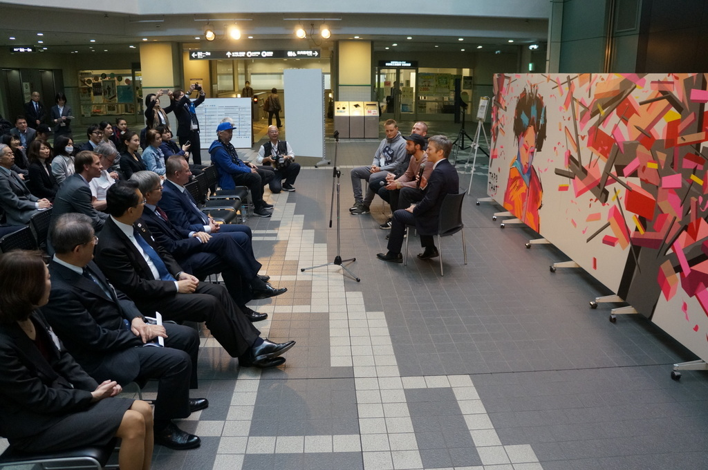 文京シビックセンターで出会ったのはベルリンからのTAPE THAT 4/11_c0180686_15433497.jpg