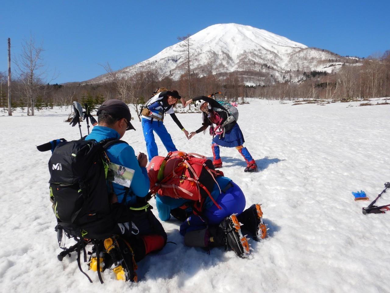 羊蹄山ご来光登山、2019.4.21ー同行者からの写真ー_f0138096_18201915.jpg