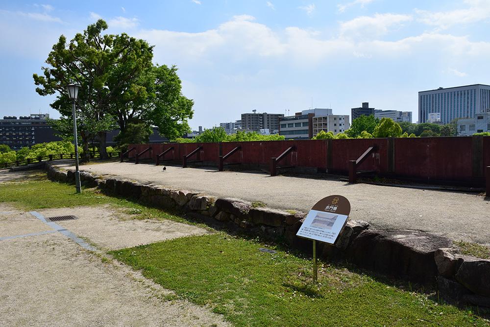 漆黒の烏城、備前岡山城を歩く。 その3「本丸中の段」_e0158128_18383076.jpg