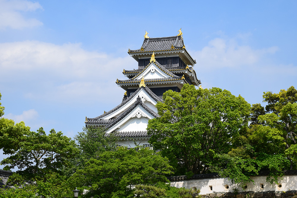 漆黒の烏城、備前岡山城を歩く。 その3「本丸中の段」_e0158128_19064233.jpg
