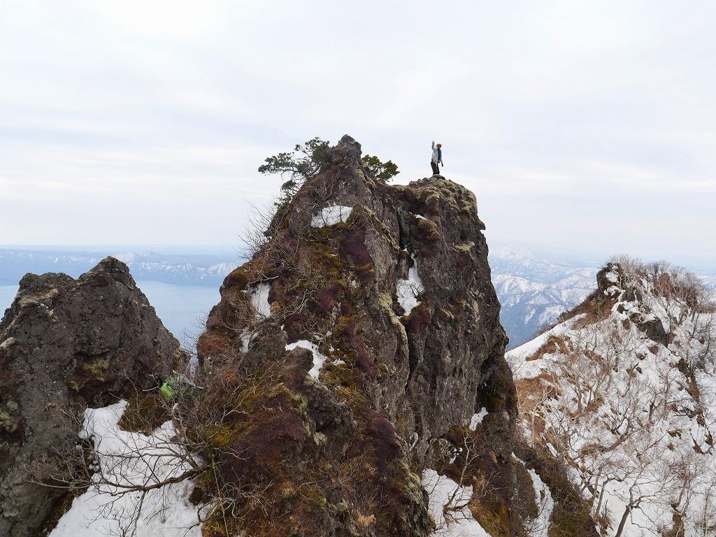 恵庭岳ジャンダルム、2019.4.23ー速報版ー_f0138096_18440186.jpg